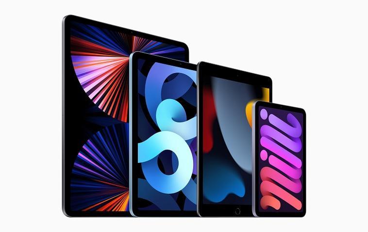 Die iPad-Modelle: Pro, Air, Standard und Mini.