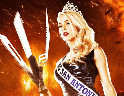 "Amber Heard auf ""Machete Kills""-Poster"