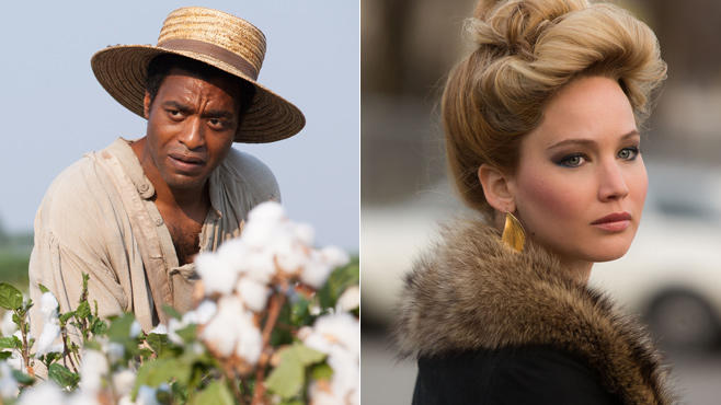 """Chiwetel Ejiofor in """"12 Years a Slave"""" und Jennifer Lawrence in """"American Hustle"""""""
