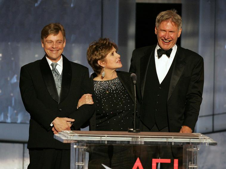 Mark Hamill, Carrie Fisher und Harrison Ford