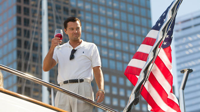 """Hollywood-Star Leonardo DiCaprio in """"The Wolf of Wall Street"""""""