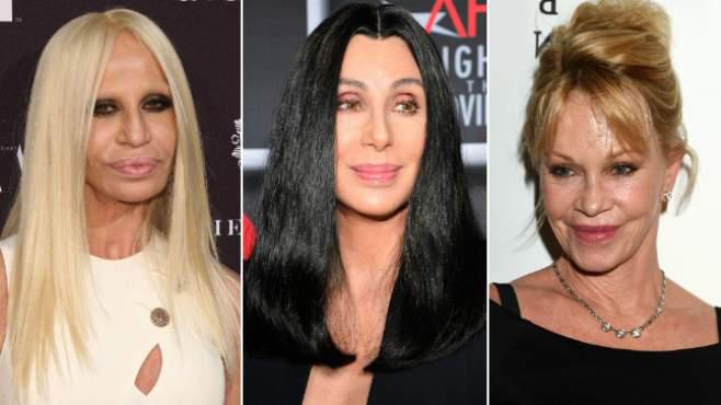 Donatella Versace, Cher, Melanie Griffith