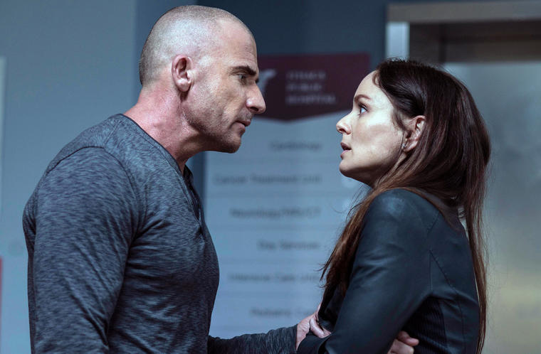 """Prison Break"": Lincoln Burrows (Dominic Purcell) und Sara Tancredi Sarah Wayne Callies"