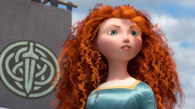 """Die Lockenpracht von """"Merida"""" war für die Animatoren eine echte Herausforderungen. 111.700 Haaren schmücken ihren Kopf und führen dort ihr Eigenleben."""