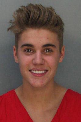 Der Mugshot von Justin Bieber