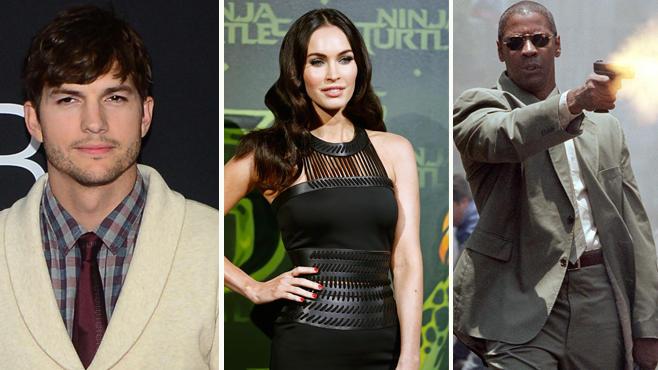 Ashton Kutscher, Megan Fox und Denzel Washington