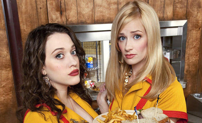2 Broke Girls, Beth Behrs, Kat Dennings