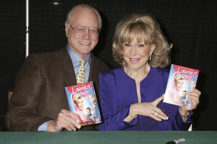 Larry Hagman und Barbara Eden