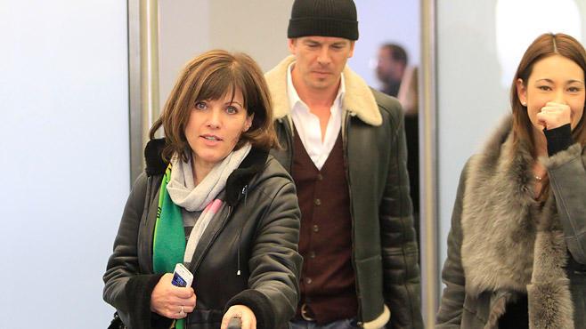 Markus Lanz gemeinsam mit Ex-Frau Schrowange und seiner neuen Ehefrau Angela Gessmann.