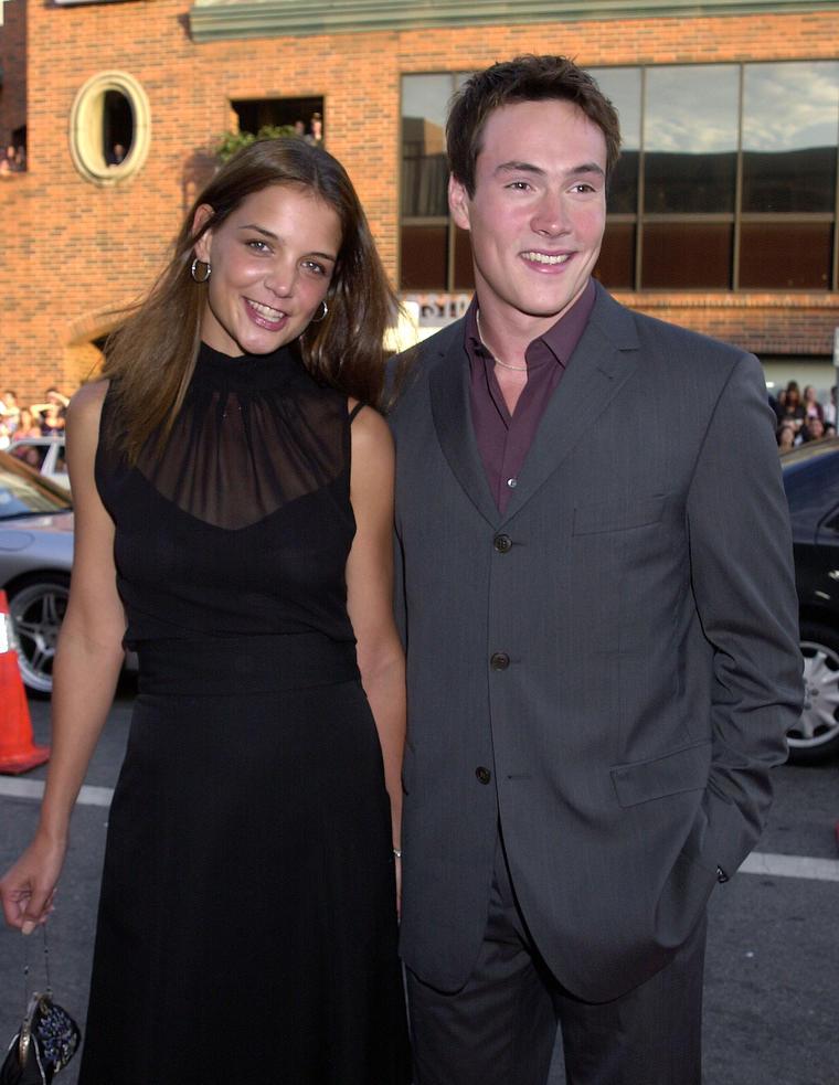 """Katie Holmes mit dem """"American Pie""""-Schauspieler Chris Klein. Die beiden waren von 2000-2005 ein Paar. Nur einen Monat nach ihrer Trennung..."""