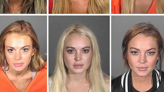 lindsay lohan mugshot im gef ngnis verhaftet stars und ihre. Black Bedroom Furniture Sets. Home Design Ideas