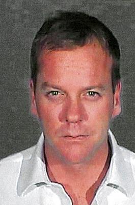 Kiefer Sutherland Mugshot im Gefängnis