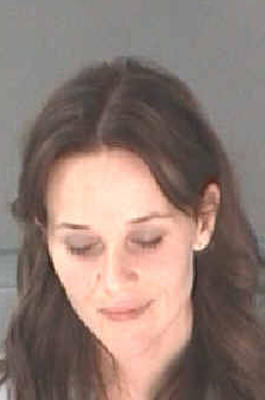 Reese Witherspoon Mugshot verhaftet