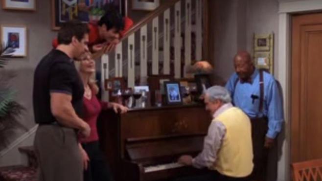 Hal Linden spielt Klavier